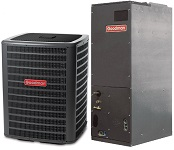 1.5 Ton 13 Seer Goodman Air Conditioning System: GSX130181 + ARUF18B14