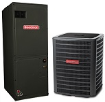 1.5 Ton 13 Seer Goodman Air Conditioning System: GSX130181 + ASPT24B14