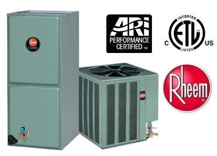 4 Ton 16 Seer Rheem Ruud Air Conditioning System 14ajm49a01