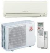 12,000 Btu/h 20.5 Seer Mitsubishi Single-Zone Mini Split Air Conditioning System - MUYGE12NA - MSYGE12NA8